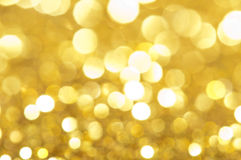 Holiday shiny blurry lights. In yellow colors Stock Photography