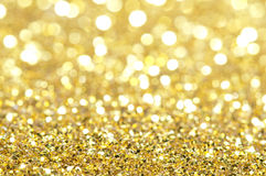 Holiday shiny blurry lights. In yellow colors Royalty Free Stock Image