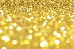 Holiday shiny blurry lights. In yellow colors Royalty Free Stock Photos