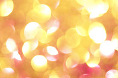 Holiday shiny blurry lights. In yellow colors Stock Photo