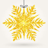 Holiday shiny glitter snowflake Stock Image