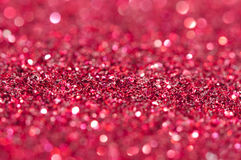 Holiday shiny red blurry lights Royalty Free Stock Photography