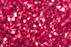 Holiday shiny red blurry lights Stock Photos