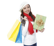 Holiday Shopper Stock Image
