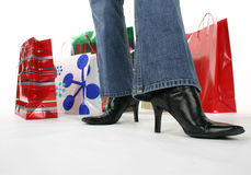 Holiday shopper royalty free stock image