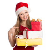 Holiday shopper Stock Images
