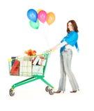 Holiday shopper Royalty Free Stock Image