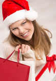 Holiday shopper Royalty Free Stock Photography