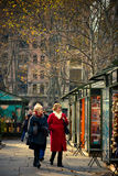 Holiday Shoppers Bryant Park NYC Stock Photography