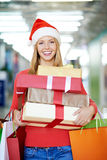 Holiday shopping Stock Images