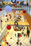 Holiday shopping mall. A shopping mall with Christmas decorations filled with customers on Black Friday,Picture taken on November 21st,2014,Varna city,Bulgaria Royalty Free Stock Photos