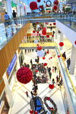 Holiday shopping mall. A shopping mall with Christmas decorations filled with customers on Black Friday,Picture taken on November 21st,2014,Varna city,Bulgaria Stock Photography