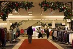 Holiday shopping mall Stock Photo