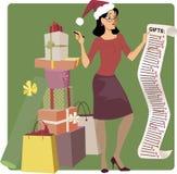 Holiday shopping Stock Image
