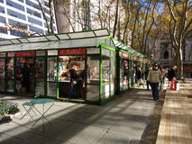 The Holiday Shops, Winter Village at Bryant Park, NYC, USA royalty free stock photography