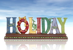 Holiday Sign Stock Images