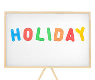Holiday sign on magnetic board Stock Images