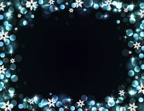 Holiday silver-blue background Royalty Free Stock Photo