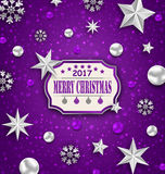 Holiday Silver Starry Background with Best Wishes Stock Photos
