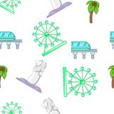 Holiday in Singapore pattern, cartoon style Royalty Free Stock Photography