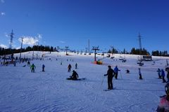 Ski Resort Bania in Bialka Tatrzanska Poland royalty free stock photography