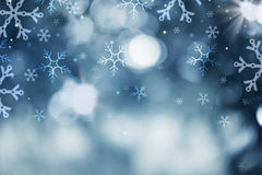 Holiday Snow Background Stock Photo