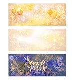 Holiday snow banners Royalty Free Stock Photography