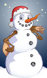 Holiday Snowman Stock Photography