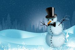 Holiday Snowman Stock Images