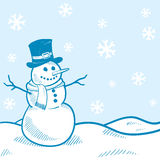 Holiday snowman background Royalty Free Stock Photos