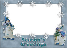 Holiday snowman border Royalty Free Stock Photos