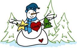 Holiday Snowman Stock Photos