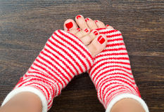 Holiday socks Stock Image