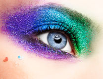 Holiday spangled eye makeup Stock Image