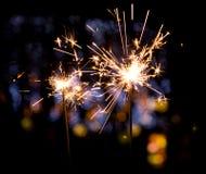 Holiday sparkler Royalty Free Stock Photo