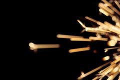 Holiday Sparkler. Closeup Background of Shiny Holiday Sparkler Stock Photo