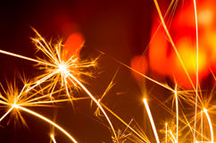 Holiday sparkler Royalty Free Stock Photography