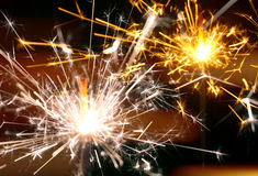 Holiday sparkler macro close up Stock Photo