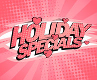 Holiday specials pink poster design, sale illustration with hearts Stock Photos
