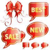 Holiday Speech Bubbles Stock Photography
