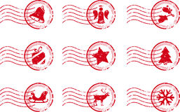 Holiday Stamp Set Grunge Motif Royalty Free Stock Photo