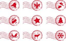 Holiday Stamp Set Grunge Motif. Vector Illustration eps8 Royalty Free Stock Photo