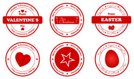 Holiday Stamps Stock Photography