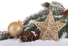 Holiday Star and Ball Stock Image