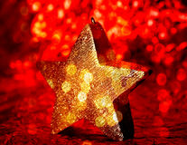 Holiday star candle Stock Photo