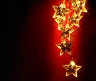Holiday star lights Stock Image