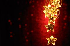 Holiday star lights Stock Photo