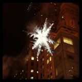Holiday Star in New York City Royalty Free Stock Photography