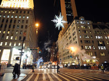 HOLIDAY STAR 5TH AVE & 57TH ST Royalty Free Stock Photography