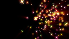 Holiday stars background, stock footage Royalty Free Stock Image
